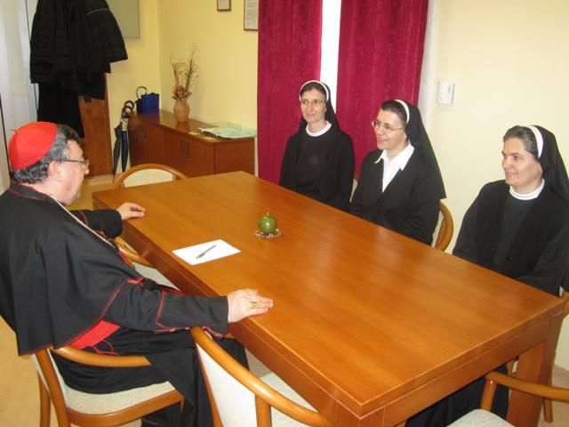 Vrhovna predstojnica s. Klara Šimunović kod kardinala Puljića