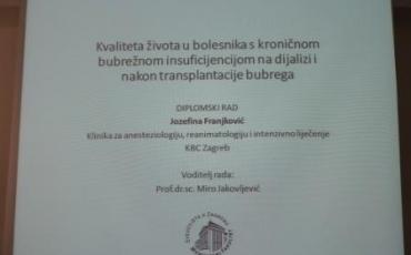 Zagreb: Obrana diplomskog rada s. Jozefine Franjković