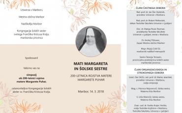 Simpozij u prigodi 200.obljetnice rođenja M. Margarite Pucher