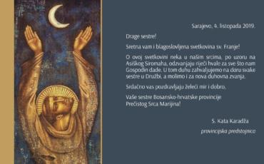 Čestitka o svetkovini sv. Franje