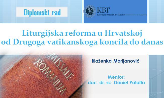 Na KBF-u diplomirala s. Blaženka Marijanović