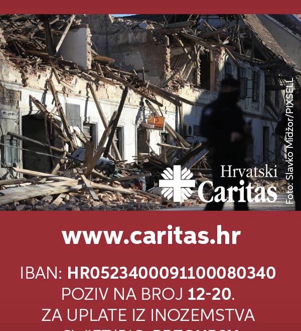 Upute o mogućnostima donacija Hrvatskom Caritasu