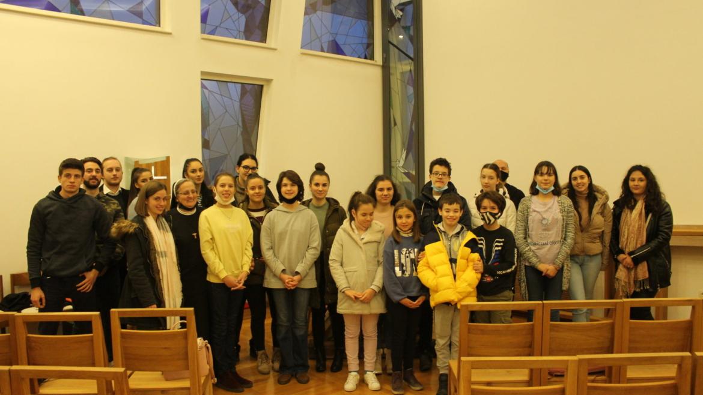 Vjeroučenici sarajevske katedralne Župe Presvetog srca Isusova posjetili Centar za pastoral mladih Ivan Pavao II.
