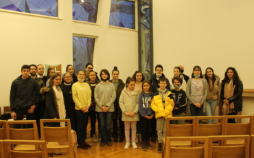 Vjeroučenici sarajevske katedralne Župe u Centru Ivan Pavao II.